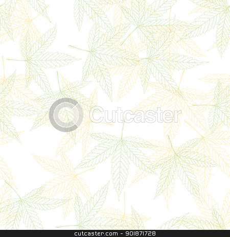 Hemp leaves seamless pattern, vector, EPS8 stock vector clipart, Hemp leaves seamless pattern, vector, EPS8 by pashabo