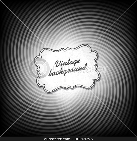 Retro background in black and white gamut. Vector, EPS10 stock vector clipart, Retro background in black and white gamut. Vector, EPS10 by pashabo