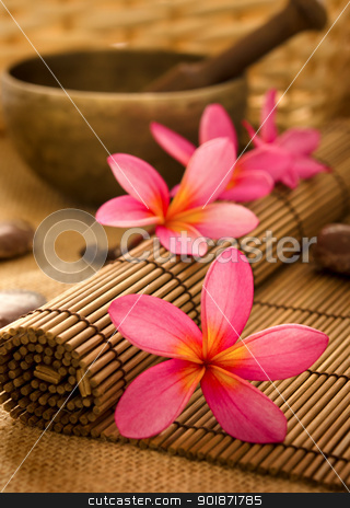 Balinese Spa stock photo, Balinese Spa setting. Low lighting, suitable for spa related theme. by szefei
