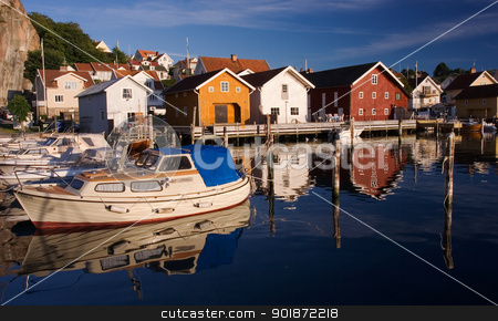 Fjallbacka village by the swedish west coast stock photo, Calm and peaceful village by the swedish west coast. by Kristoffer Pettersson