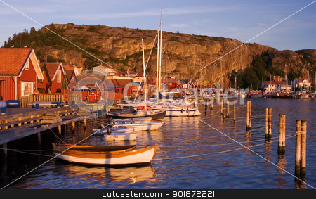 Beutiful village by the swedish west coast stock photo, A village called Fjallbacka. Located at the swedish west coast. by Kristoffer Pettersson