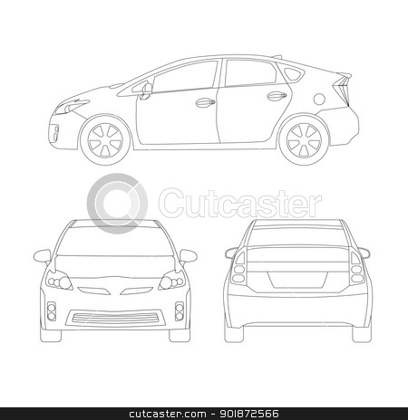 Medium size city car line art style vector illustration stock vector similar images medium size city car vector malvernweather Image collections