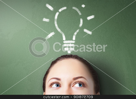 Ideas and creativity in business stock photo, Young businessman with ideas as symbol of business creativity by Sergey Nivens