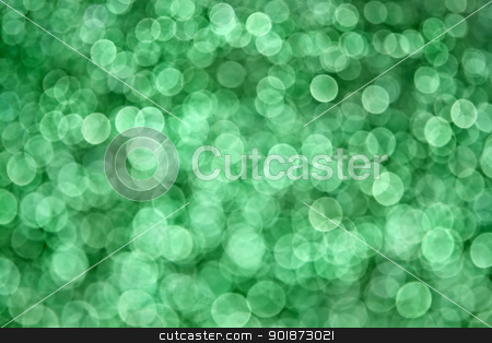 Green Bokeh Background  stock photo, Abstract green bokeh defocused lights great for backgrounds by Stephanie Zieber