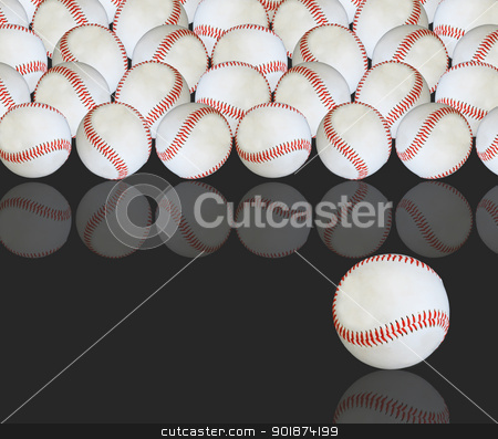 Baseballs. stock photo,  by WScott
