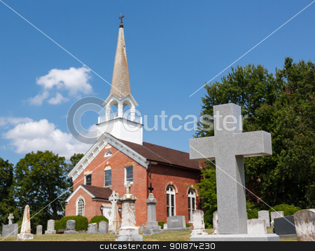 St Ignatius church Chapel Point Maryland stock photo, St Ignatius church is the oldest continuously used church in the USA in Maryland by Steven Heap