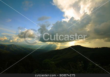 high mountain in Thailand  stock photo, Green forest and high mountain in Thailand  by kongsky
