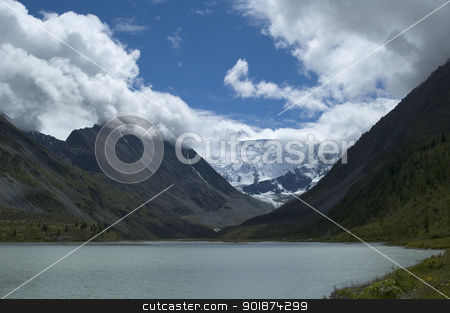 belukha  the highest peak of Altai stock photo, Belukha mountain peak 4506 meters, Altai, Russia by Aikon