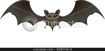 illustrated image of a bat stock photo, illustrated image of a bat by Rusu Grigore