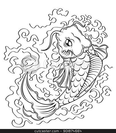 koi fish vector  stock photo, koi fish vector  by Rusu Grigore