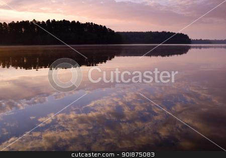 Sunrise. stock photo, Colorful sunrise over the lake, by Piotr Skubisz