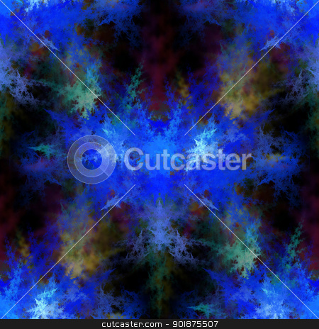 Fractal stock photo, Abstract fractal on black background with vibrant colors. by Henrik Lehnerer