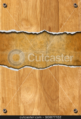 Cracked Wooden Background stock photo, Cracked wooden vintage background with space for message  by catalby