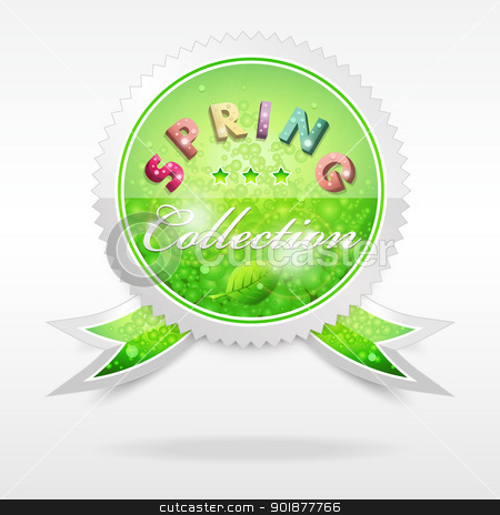 Vector Badge. Spring collection stock vector clipart, Vector realistic cool badge, spring collection, format eps10 by Alex Gontar