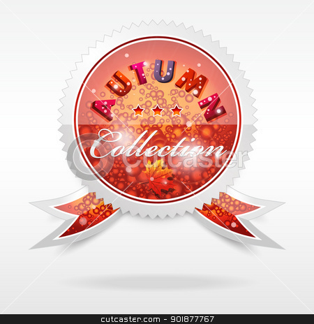 Vector Badge. Autumn collection stock vector clipart, Vector realistic cool badge, autumn collection, format eps10 by Alex Gontar
