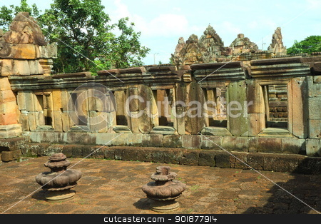 Muang Tam Castle stock photo, Muang Tam Castle, a historic and ancient castle at Buriram Thailand  by kongsky