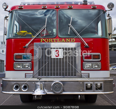 Fire Engine stock photo, Portland  Oregon fire engine by Jadthree