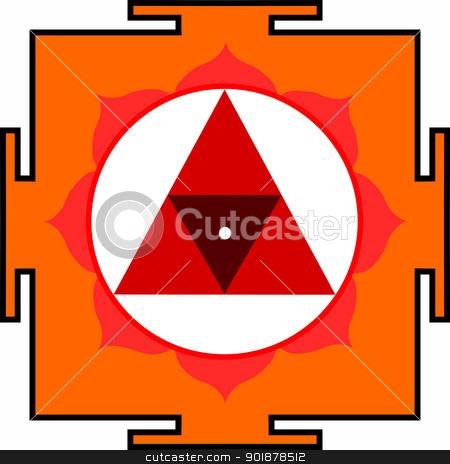 Shri Chinnamasta-Yantra stock vector clipart, Sacred Yantra of Goddess Chinnamasta by Viacheslav Belyaev