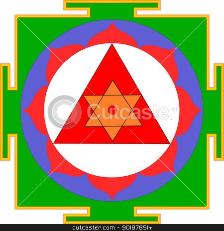 Shri Ganesha-Yantra stock vector clipart, Sacred Yantra of Lord Ganesha by Viacheslav Belyaev