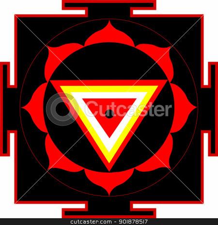 Shri Kali-Yantra stock vector clipart, Sacred yantra of Shrimati Kali by Viacheslav Belyaev
