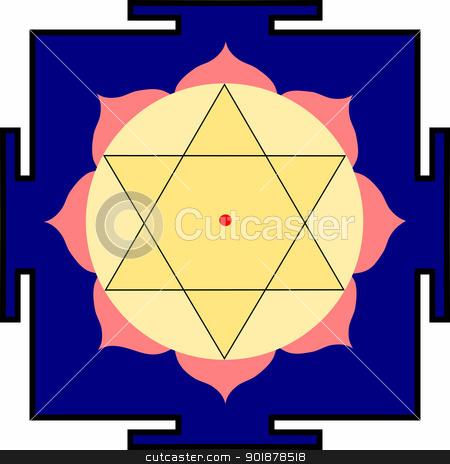 Shri Krishna-yantra stock vector clipart, Yantra of Bhagavan Shri Krishna by Viacheslav Belyaev