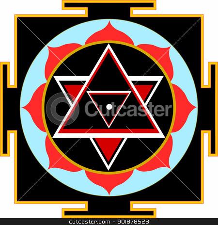 Shri Shiva-Yantra stock vector clipart, Sacred Yantra of Lord Shiva by Viacheslav Belyaev