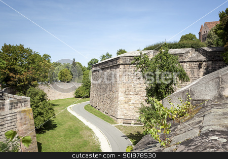 old wall Nuremberg stock photo, An image of the old wall in Nuremberg Bavaria Germany by Markus Gann