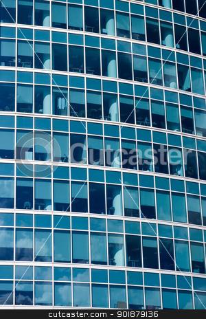 skyscraper stock photo, Windows of a modern office building  by Alexey Popov