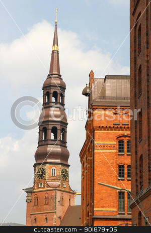 Historic buildings in the Speicherstadt in Hamburg  stock photo, Historic building in the Speicherstadt in Hamburg, Germany, Europe. by Michael Osterrieder