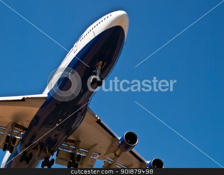 Landing aircraft stock photo, detail of modern jet aircraft  by burnel11
