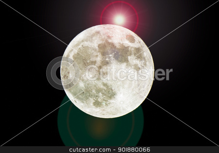 full moon with shining star stock photo, full moon with shining star by Dunning Adam Kyle