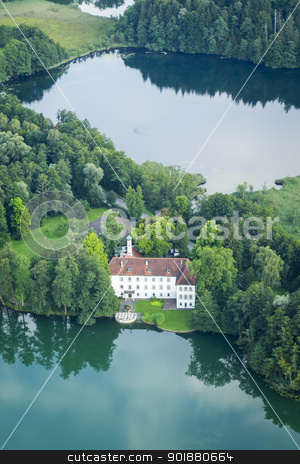 flight over Bavaria stock photo, An image of a flight over the bavarian landscape by Markus Gann