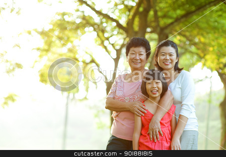 My lovely grandma and mother stock photo, Portrait of grandmother, mother and grandchild by szefei