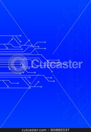 abstract set of printing conductors stock photo, abstract set of printing conductors for an electric circuit by Anatolii Vasilev