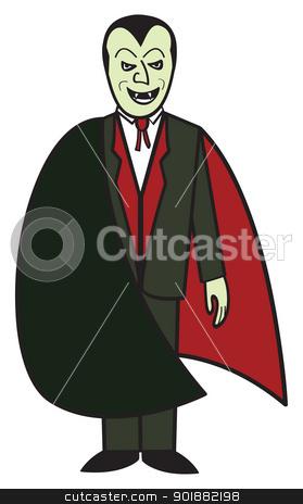 Cartoon Vampire stock vector clipart, A cartoon depiction of the classic vampire from Transylvania. by Jamie Slavy