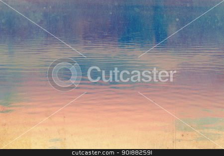 Dreamy dark, deep blue and pink  sky background stock photo, Dreamy dark, deep blue and pink  sky background with stains  by Juliet Photography