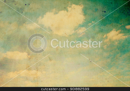 Old, stained sky background  stock photo, Old, stained, grungy sky and clouds background  by Juliet Photography