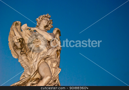 Angel stock photo, one of the angels of the Ponte Sant Angelo in Rome by Juliane Jacobs
