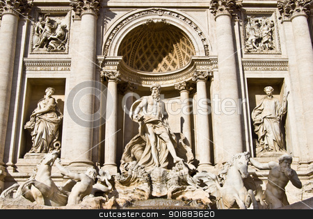 Fontana di Trevi  stock photo, famous Fontana di Trevi in Rome on a sunny day by Juliane Jacobs