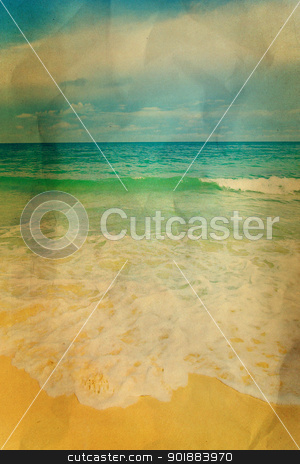 Vintage seascape stock photo, Vintage seascape by jakgree