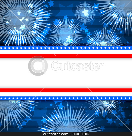 White blank background and fireworks stock photo, Colour fireworks and the sky and white blank background by Sergey Nivens