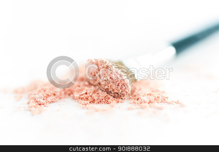close up of a make up powder on white background stock photo, close up of a make up powder on white background isolate by moggara12