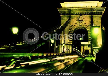 Budapest, Hungary stock photo, view of chain bridge in Budapest, Hungary by vladacanon1