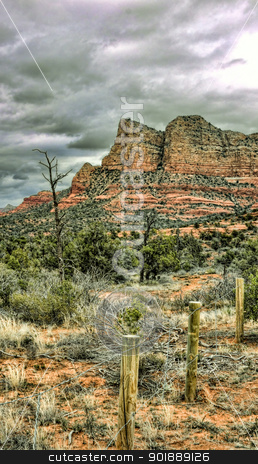 Red Rock Mountains Sedona, Arizona stock photo, Scenic HDR landscape red rock mountains Sedona, Arizona by Cheryl Valle