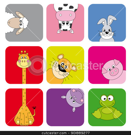 Cartoon animals and pets  stock vector clipart, Cartoon animals and pets  by sbego
