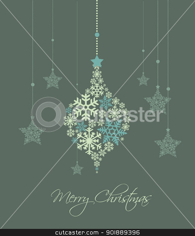 Christmas background stock vector clipart, Christmas decoration made from snowflakes, vector illustration by Miroslava Hlavacova