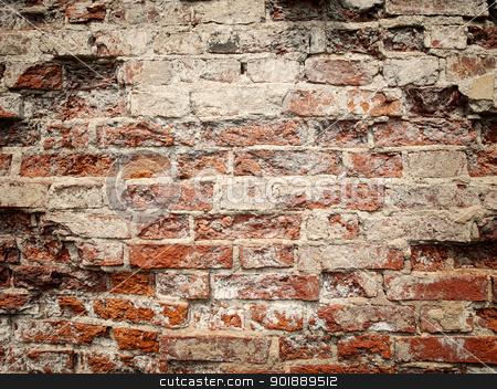 old red brick wall stock photo, old red brick wall by Sergej Razvodovskij