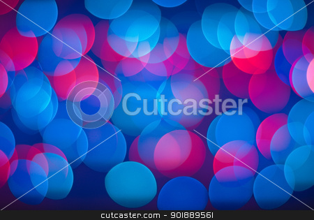 Blurred lights background. stock photo, Vivid abstract background - defocused blue and red lights. by Piotr Skubisz