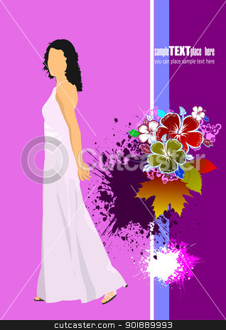 Cover for wedding album. Wedding inwitation. Vector illustration stock vector clipart, Cover for wedding album. Wedding inwitation. Vector illustration  by Leonid Dorfman