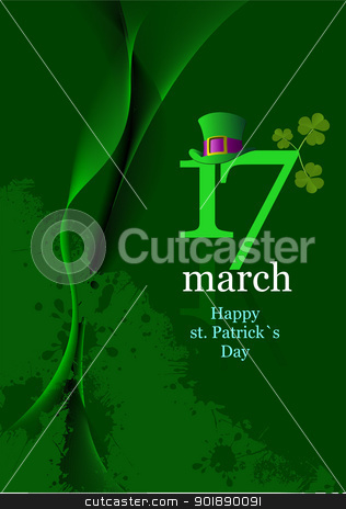 Vector of green hats and shamrocks for St. Patrick's Day stock vector clipart, Vector of green hats and shamrocks for St. Patrick's Day by Leonid Dorfman